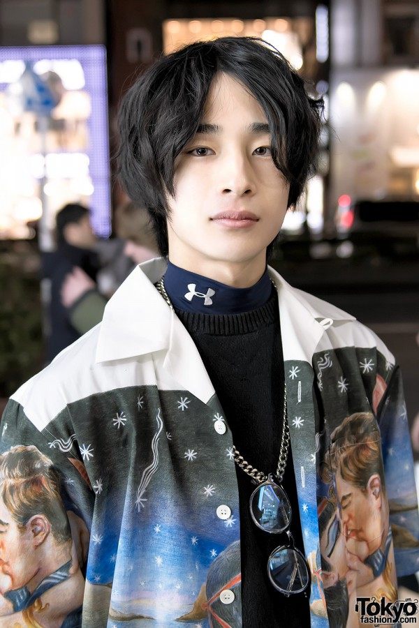 Harajuku Guy in Prada x Under Armour