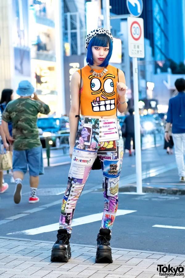Harajuku Girl in Jeremy Scott & Moschino Fashion