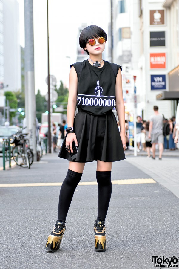 Harajuku Girl w/ Black Bob Hairstyle in Kobinai, HellcatPunks, Glad News & YRU Platforms