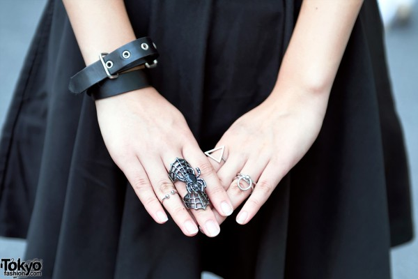 Leather Bracelet & Spider Ring