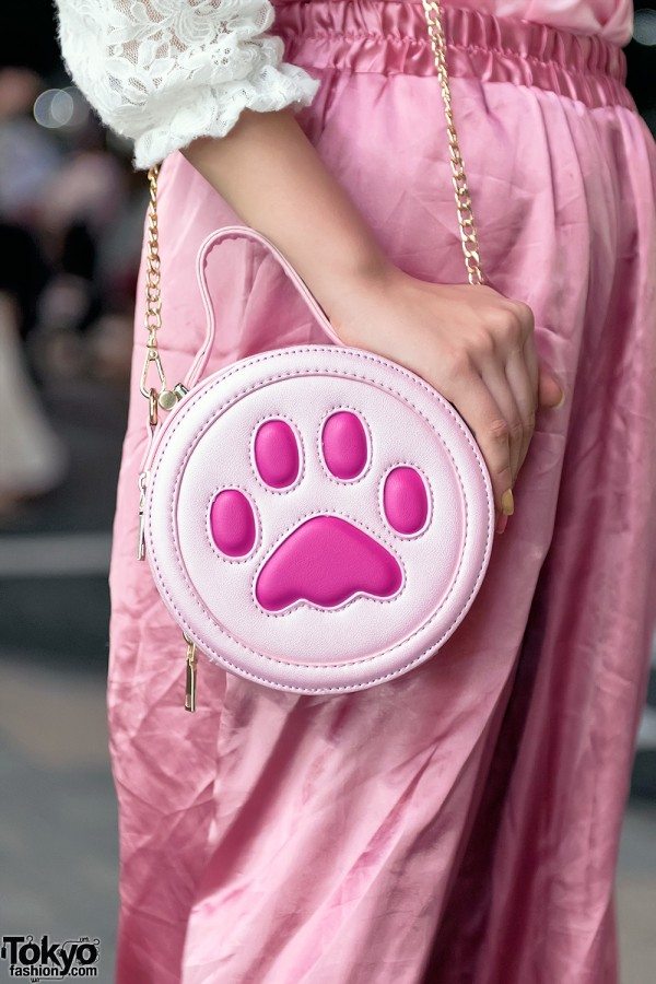 Pink Dream Paw Print Purse