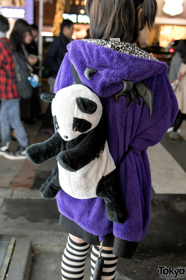 ACDC Rag Plush Panda Backpack