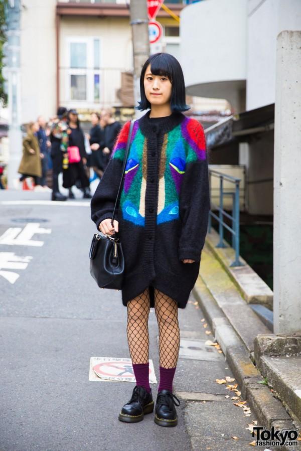 Harajuku Girl in Stylish Resale Fashion w/ Michael Kors & Dr. Martens