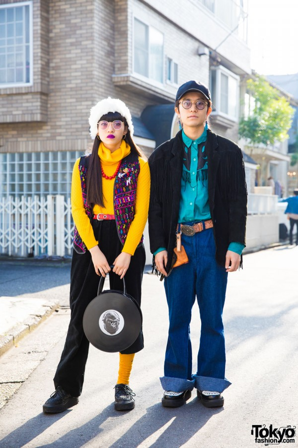 Harajuku Duo in Retro Looks w/ Bunkaya Zakkaten, Hysteric Glamour, Wrangler & Vintage Items