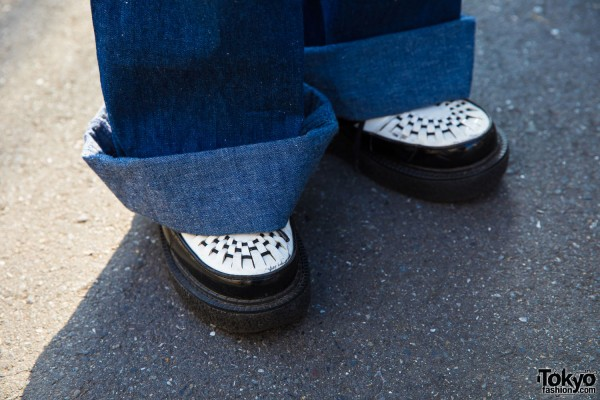 Black and White Loafer Creepers