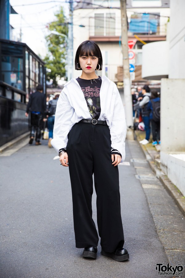 Black and White Fashion in Harajuku