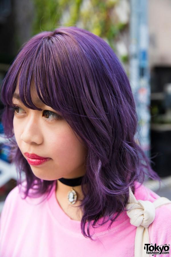 Purple Hair & Red Lipstick