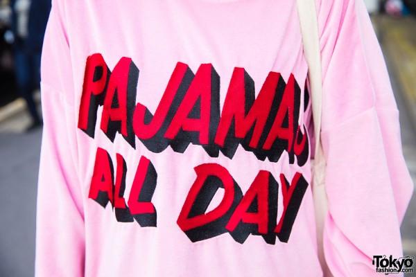 Pajamas All Day Pink Sweatshirt