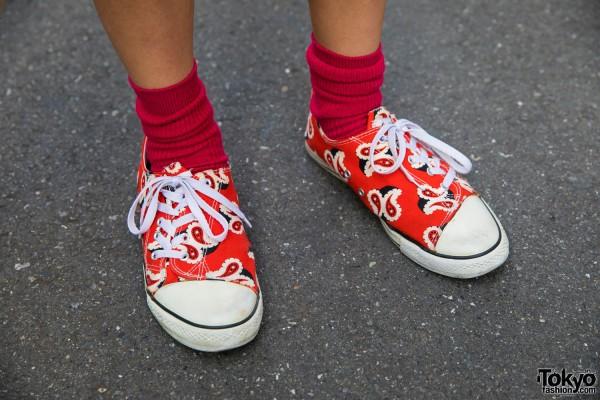 Red Socks & Ganryu Sneakers