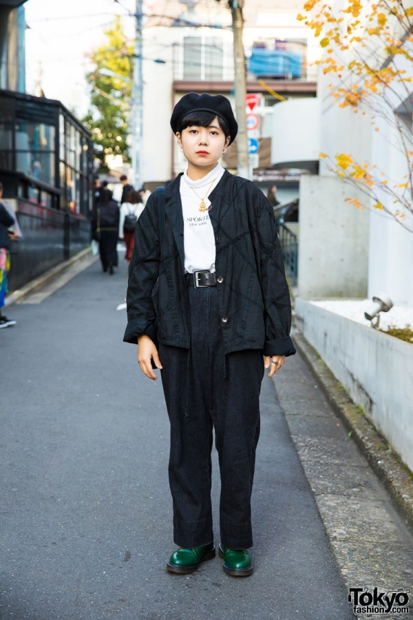 Harajuku Girl in Casual Street Style w/ Pass The Baton & Dr. Martens Fashion