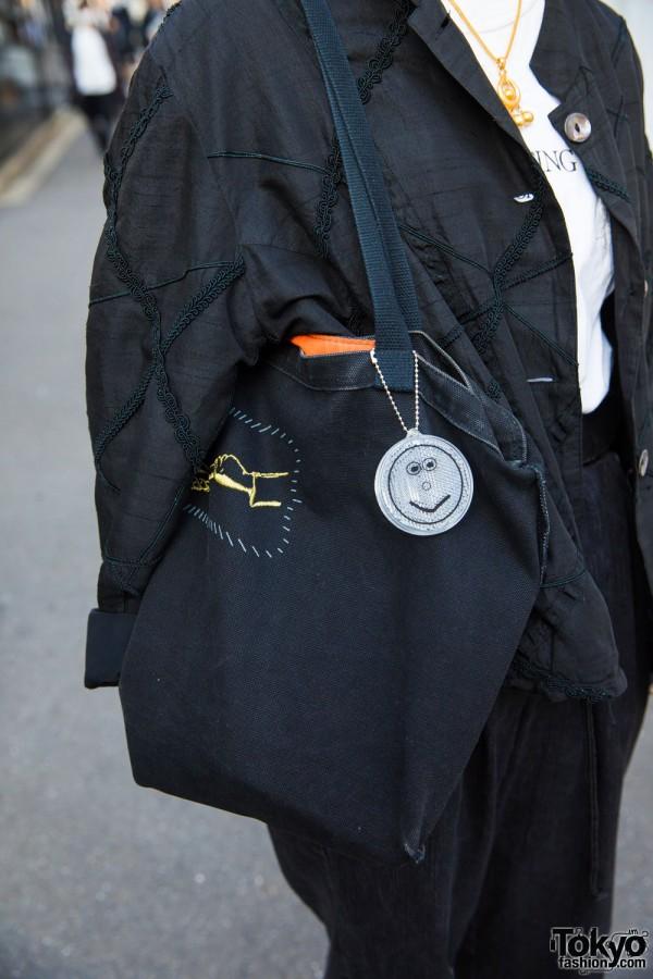 Black Denim Tote Bag