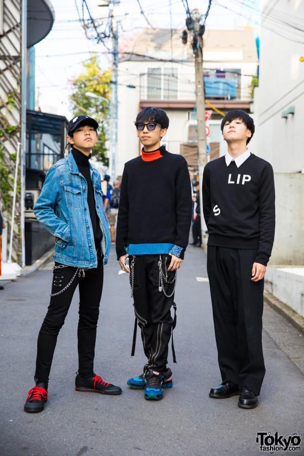 Teen Trio in Harajuku Street Fashion