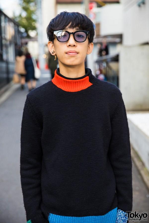 Raf Simons Colorblock Sweater