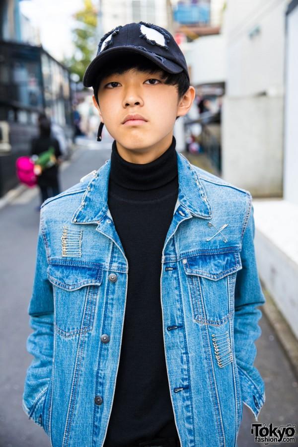 Uniqlo Turtleneck Sweater & H&M Denim Jacket