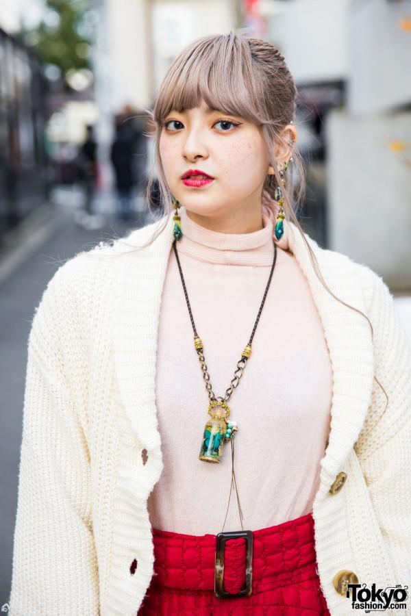 Turtleneck Top & Cardigan Sweater from Grimoire Tokyo