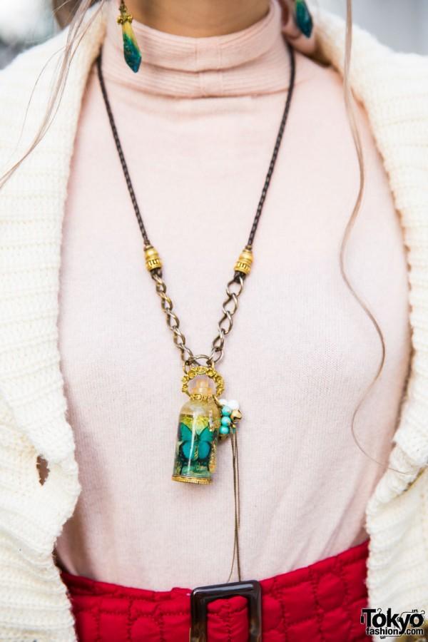 Reinette et Mirabelle Vintage Butterfly Necklace