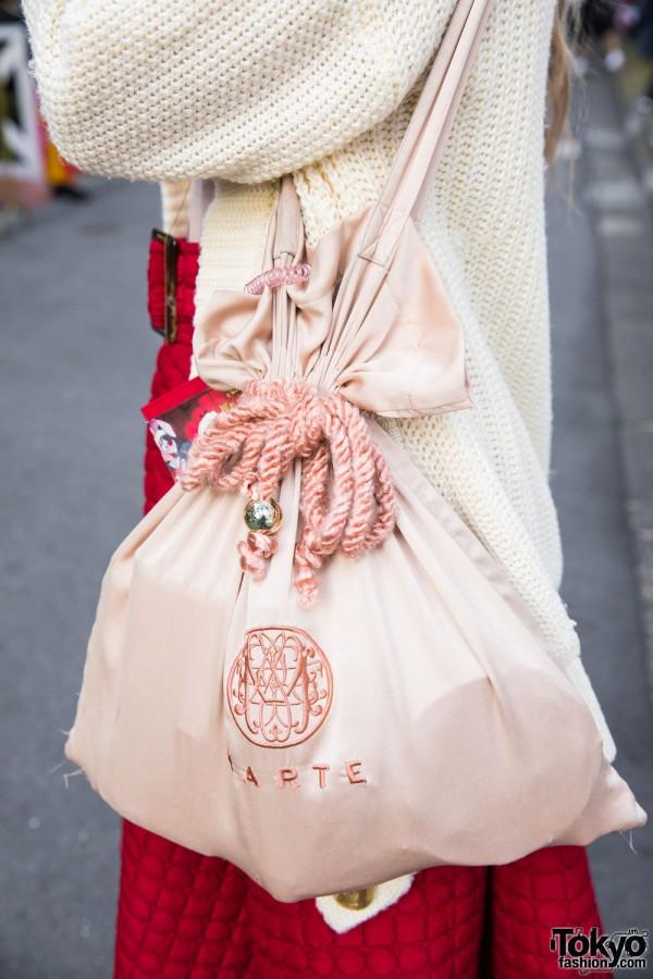Marte Tokyo Silk Drawstring Bag