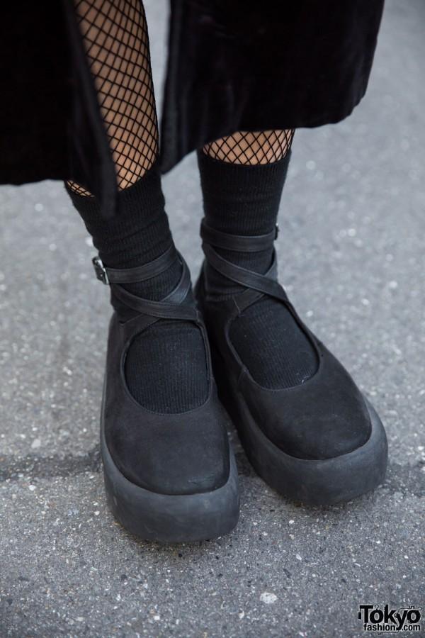 Tokyo Bopper Ankle Wrap Platform Shoes