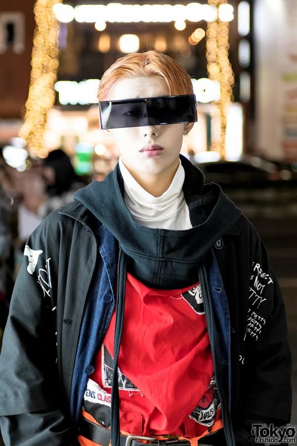 Futuristic Sunglasses in Harajuku