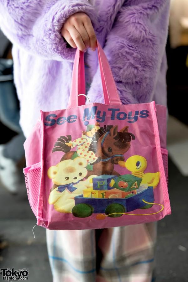 See My Toys Tote Bag in Harajuku