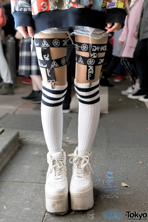 Punyus x Striped Socks x DVMVGE Street Style