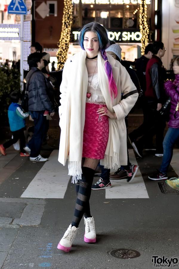 6%DOKIDOKI's Manon in Harajuku w/ Colorful Hair, Camisole Top & Handmade Fashion
