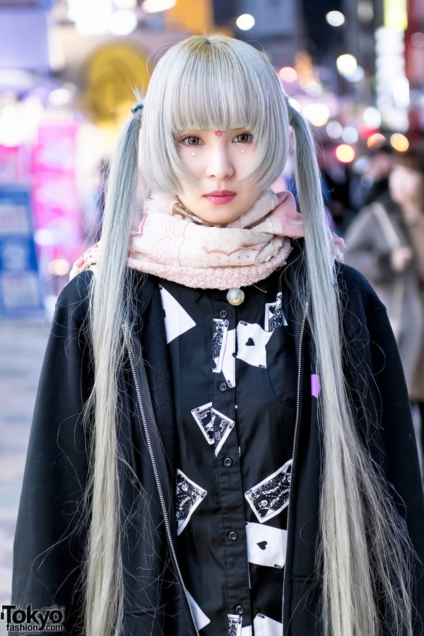 Long Pastel Twintails in Harajuku