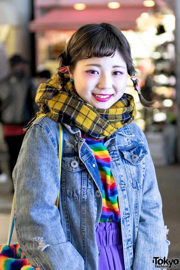 Resale Denim Jacket & Kobinai Top in Harajuku