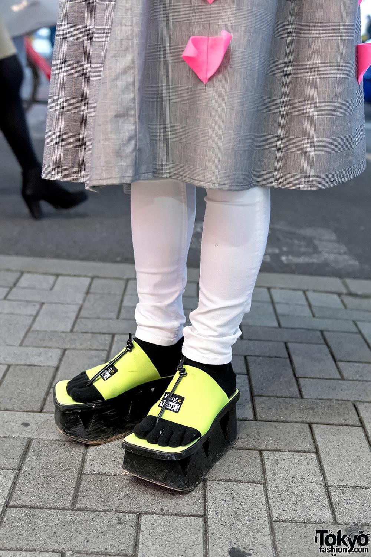 Zetsukigu Coat Neon Platform Sandals Amp Mercibeaucoup Bag