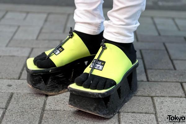 Neon Platform Sandals