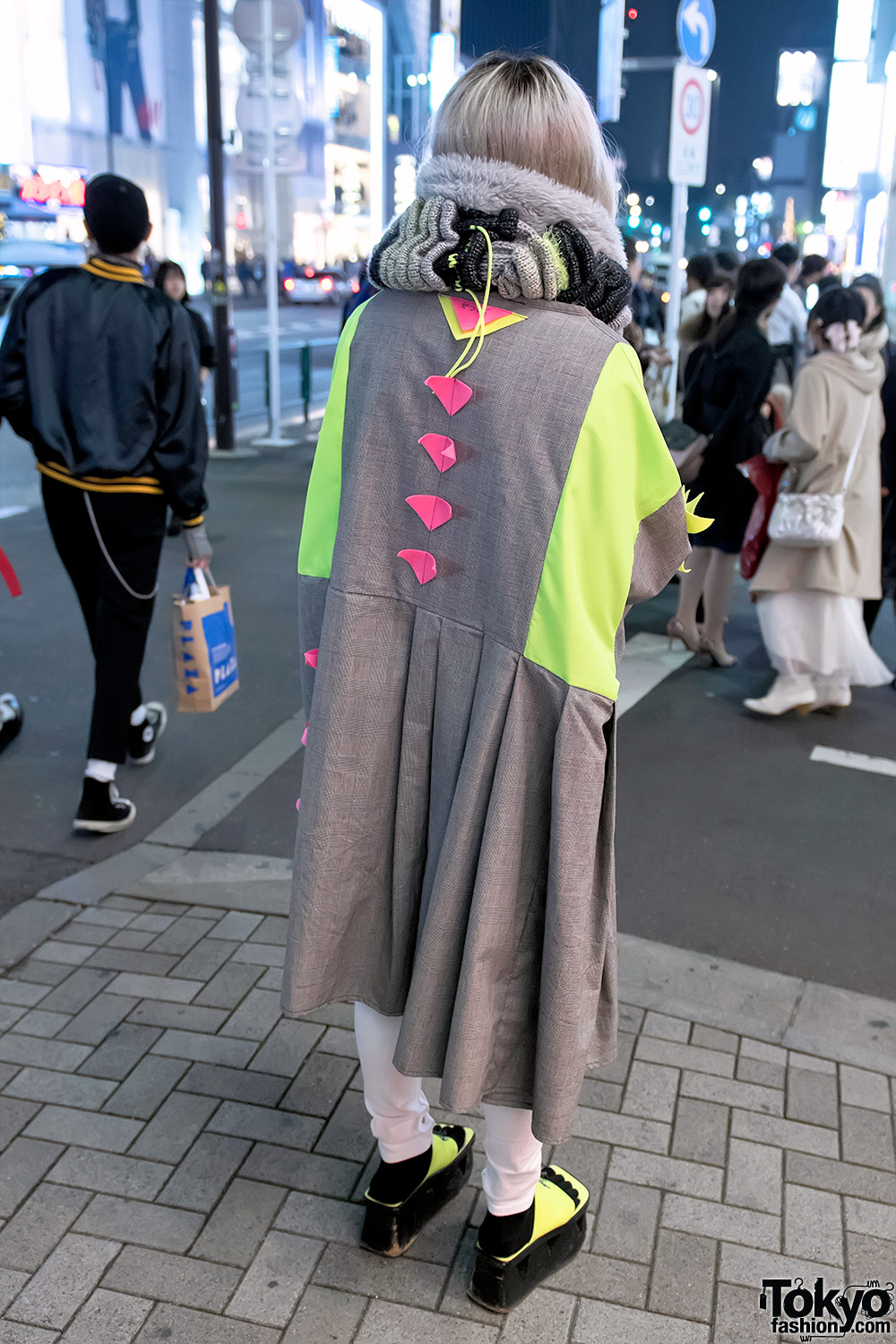 Dog Harajuku Fashion Fangophilia Rings Myob Nyc Bag: Zetsukigu Coat, Neon Platform Sandals & Mercibeaucoup Bag
