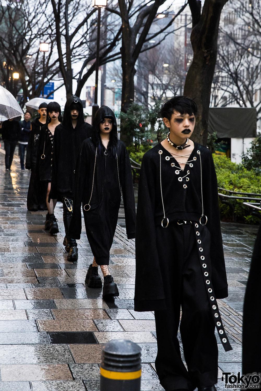 Bercerk Dirty City Japanese Fashion Brand 39 S Dark Harajuku Street Parade