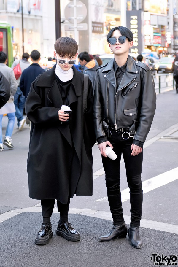 Harajuku Guys in Dark Winter Street Fashion