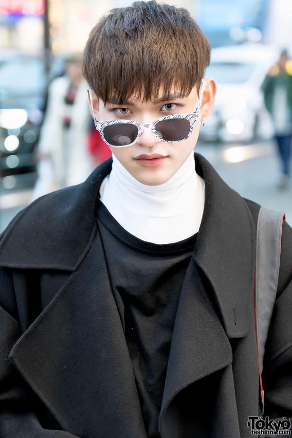 Oversize Wool Coat & Maison Martin Margiela Sunglasses
