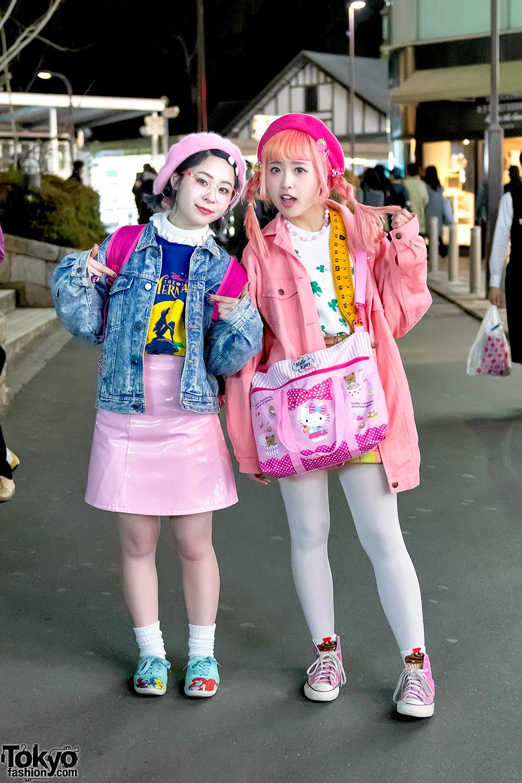 Kawaii Pink Harajuku Street Styles W Hello Kitty Disney Spinns Wego