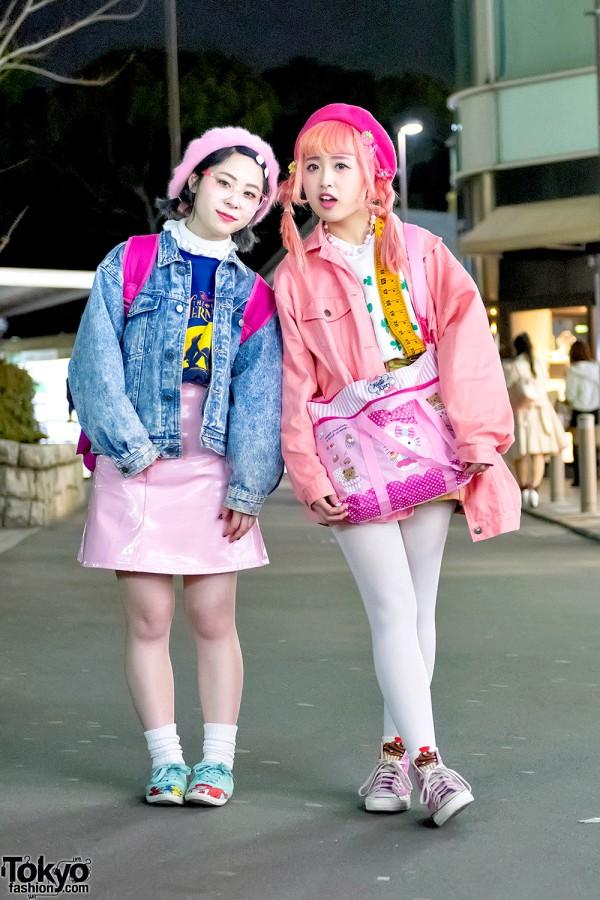 Kawaii Pink Harajuku Street Styles W Hello Kitty Disney