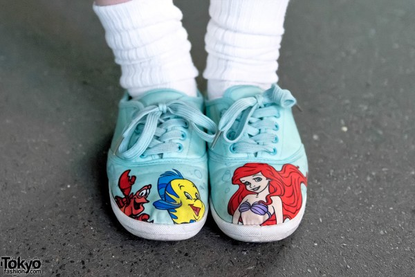 The Little Mermaid Canvas Sneakers