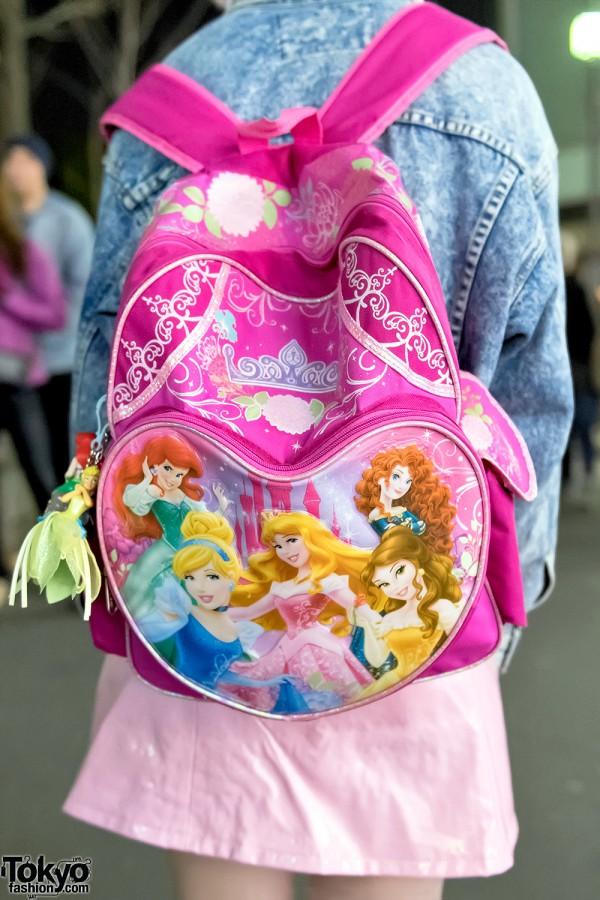 Disney Princesses Backpack, Harajuku