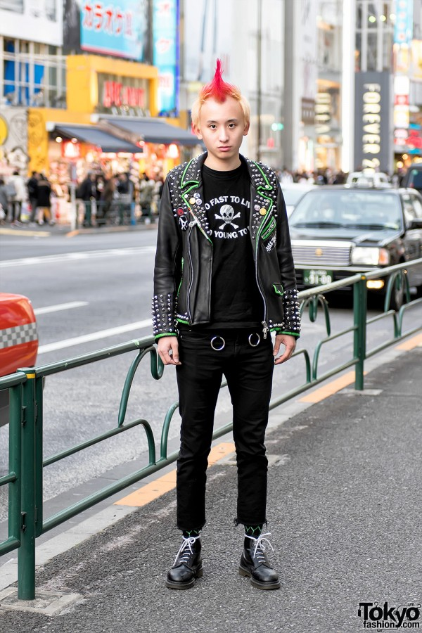 """Harajuku Punk in Leather, Spikes & """"Too Fast To Live, Too Young To Die"""""""