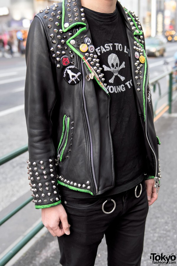 Harajuku Punk In Leather Spikes Amp Quot Too Fast To Live Too