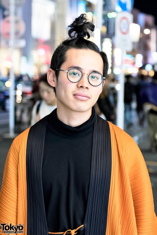 Harajuku Guy Wearing Issey Miyake Pleats