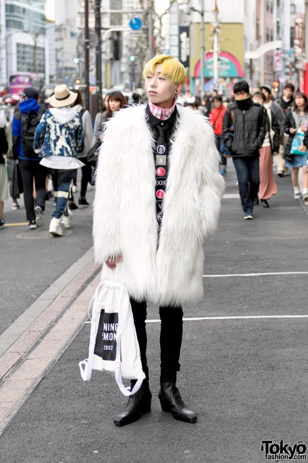Kawi Jamele Faux Fur Coat in Harajuku