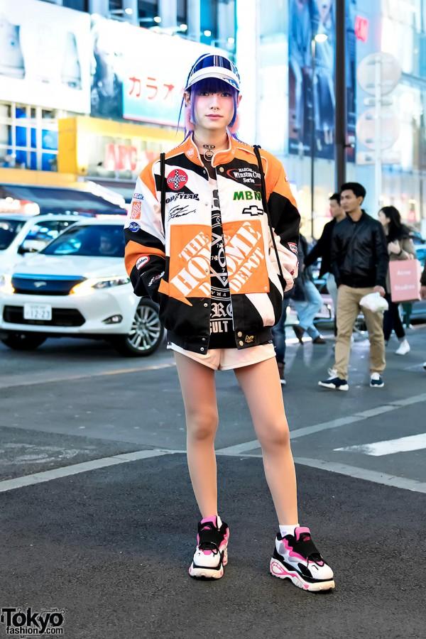 Harajuku Street Style w/ Home Depot Jacket, Killstar, Glad News & Bubbles Tokyo