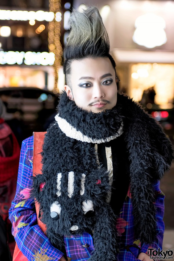 Harajuku Guy w/ Mohawk & Black Eye Makeup
