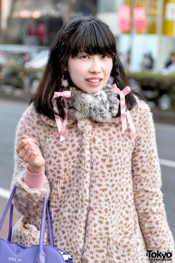 Milk Harajuku Animal Print Coat