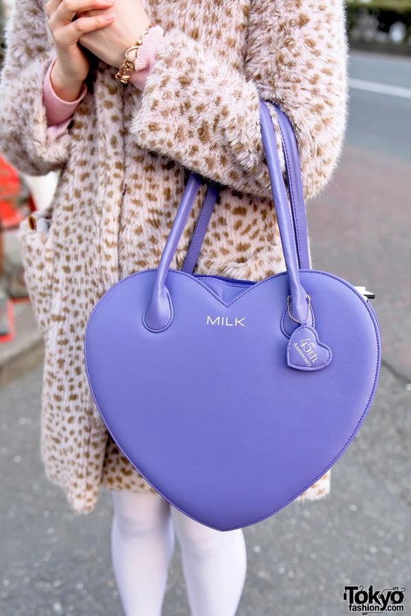 Milk Harajuku 45th Anniversary Heart Handbag