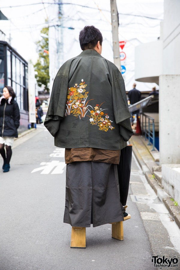 Emdroidered Drape Coat