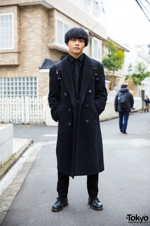 Stylish Harajuku Guy in Kujaku, Dr. Martens & Vision Street Wear