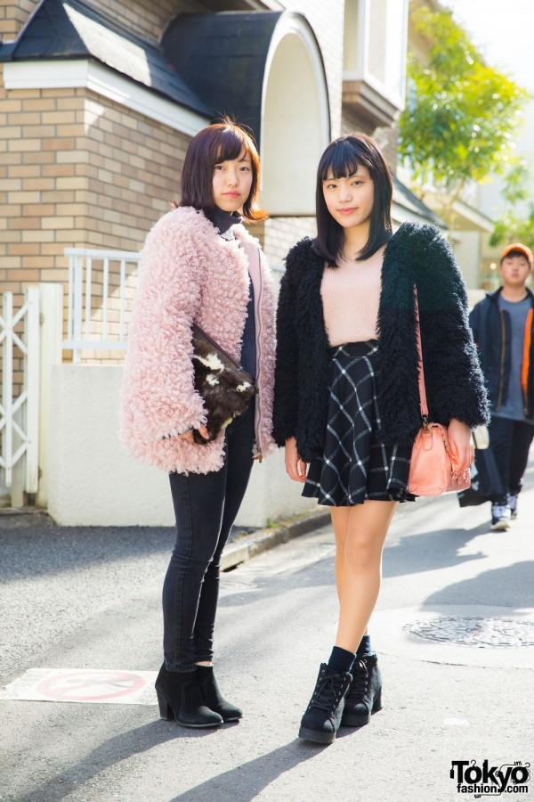 Fuzzy Jacket Trend in Harajuku