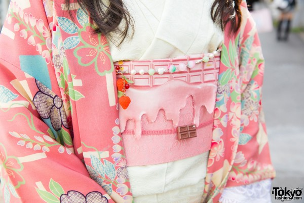 Pink Obi Belt